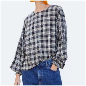 Zara Oversized Puffy Sleeve Top